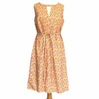 Vtg Handmade 60s 70s Sleeveless Shift Dress UK Size 14 Mod Psychedelic Festival