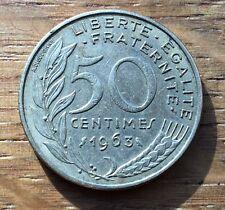 PIECE DE 50 CENTIMES LAGRIFFOUL 1963. 3 PLIS (90)