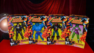 4 MARVEL UNIVERSE Collection, 10 Inch Deluxe FIGURES X 4, Toy Biz, MIB, 1997