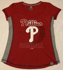 Philadelphia Phillies Baseball Womens Shirt Size XL by Majestic Cotton/Poly MLB