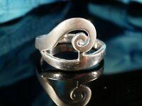 Hübscher 925 Silber Ring Schnecken Design Natur  Mattiert Glänzend Charmant Toll