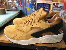 Nike Air Huarache Run Premium Wheat Black Light Bone Size US 12 Men's 704830 700