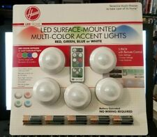 Hoover LED Surface-Mounted Multi-Color Accent Lights 5 pack w/Remote Control New