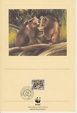 ENCART WWF  FDC  PRIVIDAN 11101 BEOGRAD  OURS 1988