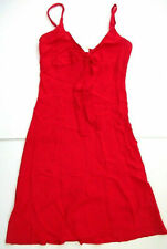 M&S LADIES RED CASUAL SUMMER FLOATY DRESS BOW MIDI UK 10 BRAND NEW WITH TAGS