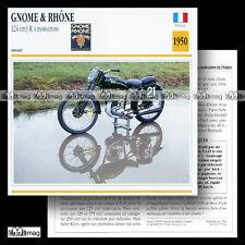 #070.02 GNOME & RHÔNE 124 R4 MOTOCROSS 1950 (125) Fiche Moto Motorcycle Card