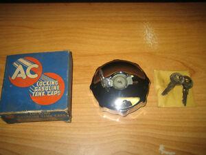 NOS 1931-53 Ford Lincoln Mercury Willys Hudson Packard Locking Fuel Gas Tank Cap