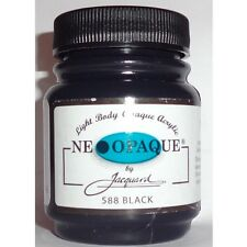 JACQUARD NEOPAQUE BLACK  PAINT SILK FABRIC PAPER DYE