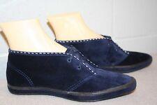 3eadef467b7d0d 6 NOS Vtg 60s 70s MOCCASIN ANKLE BOOT Keds GrassHoppers BLUE SUEDE BOOTIE  Shoe