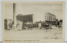 Canada International Pulp & Paper Co Mill Dalhousie N.B. Postcard O5