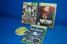Juegos Para Consola Xbox 360 -3 juegos METRO 2033-DEADRISING 2-SLEEPING DOGS