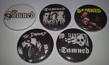 5 The Damned button badges 25mm captain sensible Smash it up punk rock 1977