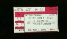 ORIGINAL NOVEMBER 1st 1994 MICHAEL JORDAN RETIREMENT NIGHT TICKET #3