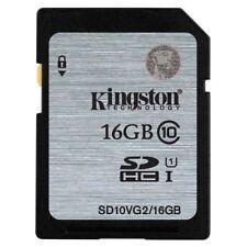 16GB NO Original Kingston SD SDHC/XC C10 Flash Memory Card f.Camera