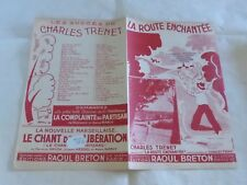 CHARLES TRENET - Partition LA ROUTE ENCHANTEE !!!