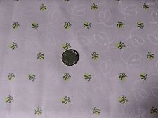 100% Cotton Fabric - Yellow Bumblebees on Pink Background - by the Yard