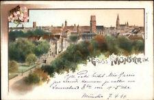Gruss Aus Munster i.w. c1900 Postcard