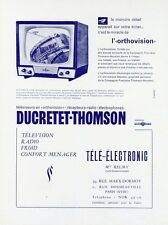 """""""DUCRETET-THOMSON"""" Annonce originale entoilée fin 40 26x33cm"""