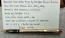 Sheaffer Targa 14ct Gold Nib Fountain Pen, Case, Instructions - GWO & VGC