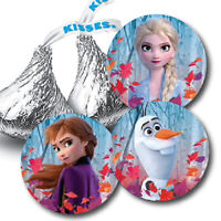 108 Disney Frozen 2 Anna Elsa Olaf Birthday Hershey Kiss Stickers
