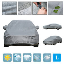 Large 2 Layer Heavy Duty Waterproof Car Cover Cotton Lining Scratch Proof L Size