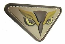 OWL HEAD PVC TACTICAL INTEL MILITARY MORALE ISAF USA MILSPEC DESERT HOOK PATCH
