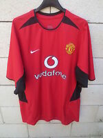 Maillot MANCHESTER UNITED 2002 2004 NIKE home shirt Red Devils jersey vintage XL