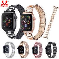 Bling Diamond Metal Wrist Band Bracelet For Apple Watch 5 4 3 2 1 iWatch Strap