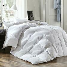 "60% White Goose down feather comforter 100% Cotton Duvet Queen size 90x90""/55oz"