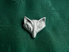 Fox/Vixen Button, 25mm, Handcrafted in Fine Lead-Free Pewter