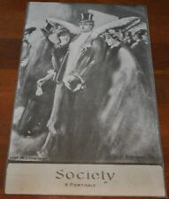 METAMORPHIC PRINT SOCIETY~MAN IS DONKEY WITH LADIES 2 images~VTG RETRO