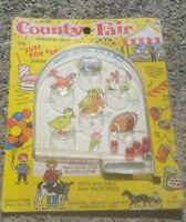 Vintage Pinball County Fair Hand Held Game 1959 child kids ANIMALS antique!