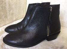 a33c3248ee0 J CREW FRANKIE TUMBLED LADIES BLACK LEATHER ANKLE BOOTS 4.5 UK 37.5 EUR  E0774