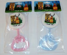 Plastic Baby Rattle ~ CASE LOT 60 PCS ~ Hand Held Shaker ~ Pink & Blue Mix