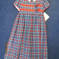 Will'beth girls size 4T red w/blue paid, new w/tags and slip