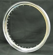 "Ultima 40 Hole Chrome Steel Front 19""x 2.50"" Drop Center Rim For Harley & Custom"