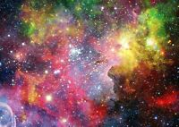 Colourful Nebula Stars Poster Size A4 / A3 Galaxy Outer Space Poster Gift #13043