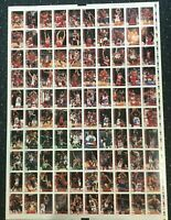 1992-93 Hoops 100 Card Michael Jordan Factory Uncut Sheet Test Proof Rare! *8/8