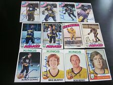 LOT OF 24 DIFFERENT AUTOGRAPHED VINTAGE 1970'S LA KINGS  HOCKEY CARDS