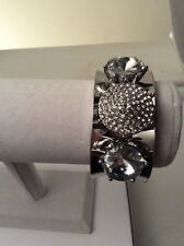 Steve Madden Bracelet ~ Silver-tone Giant Rhinestones $32 #508