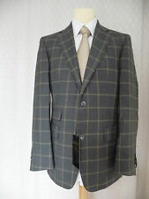 DAKS Brand New Grey Check Jacket 40R RRP £495