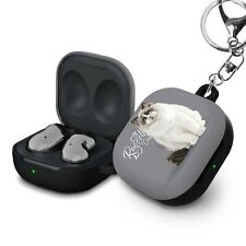 Protective Shockproof Cat Hard Case Cover For Samsung Galaxy Buds Live +Keychain