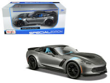 2017 Chevy Corvette Grand Sport Die-cast Car 1:24 Maisto 8 inch Metallic Gray