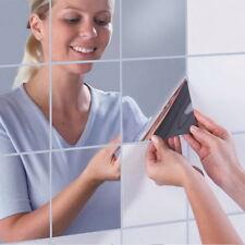16 Carré Miroir Carreaux Autocollants Muraux 3D Stickers Mosaïque Décorations