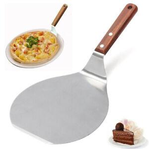33cm Rotondo Manico in Legno Acciaio Inox Cucina Torta Pizza Pala Sur Bump
