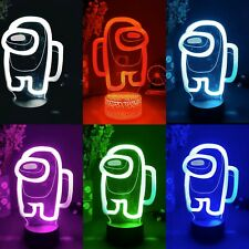 among us night lamp light with LEDs multicolor 16 colors with remote control