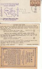 WISCONSIN TERCENTENARY LANDING NICOLET 1634-1934 OSHKOSH APR 7 1934 W/ENCLOSURES