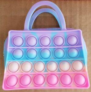 Tie Die Rainbow Mini Handbag Purse Wallet Push it Bubble Pop Fidget Sensory Toy