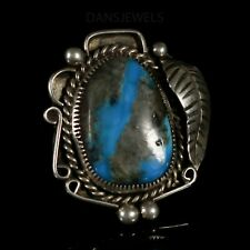 Gorgeous Old Pawn Vintage NAVAJO BISBEE Blue Natural Turquoise Ring SZ 7 1/2