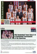 Michael Jordan Magic Johnson 1992 NBA Hoops Card USA Basketball Team Skybox Bird